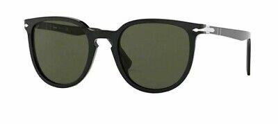 Amabile Persol 3226s 3226/s 51 95/31 Black Sunglasses Occhiali Green Lenses