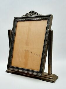 Vintage-Art-Deco-Art-Nouveau-Carved-Wood-Swinging-Picture-Frame-12-x-9-Inches