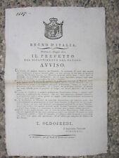 Q368-PERIODO NAPOLEONICO-MODENA AMNISTIA PER I DISERTORI