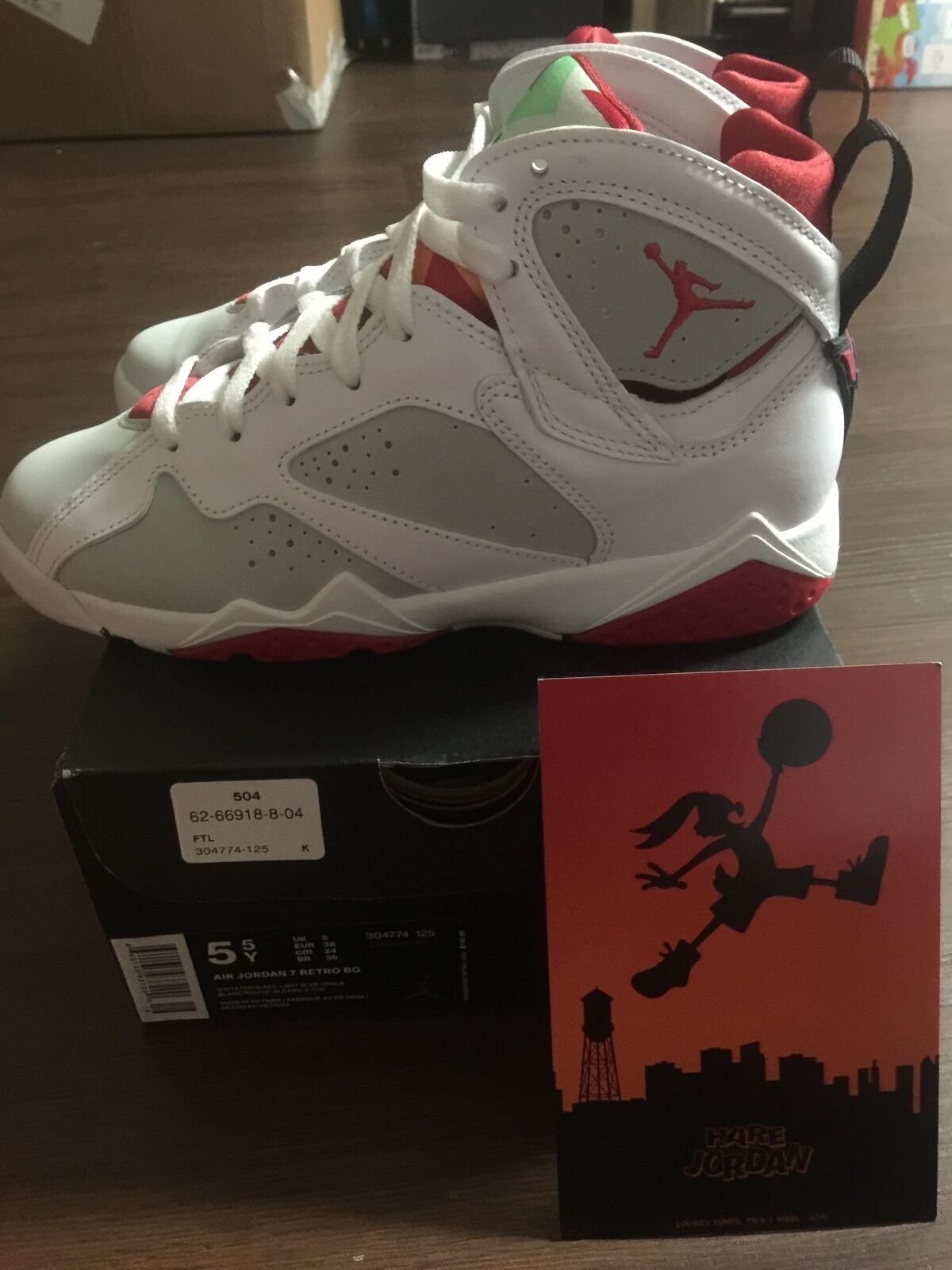 New Nike Air Jordan Retro 7 BG - HARES - NIB/DS - Comfortable New shoes for men and women, limited time discount