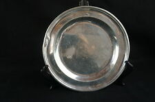 "Nice antique English peewter plate heavily marked polished 8 1/2"" [Y8-W7-A9-E9]"