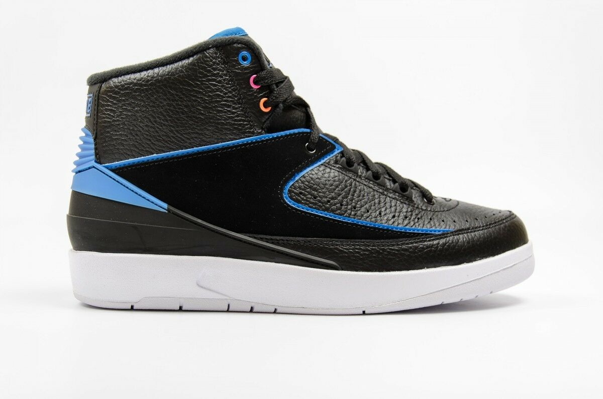 Air Jordan Men's 2 RETRO Shoes Black/Blue 834274-014 a