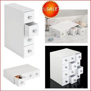 4 Drawer Flip Tower Unit Box Cabinet Desktop Desk Table Vanity Organizer Storage Ebay
