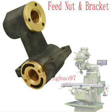 Set Milling Machine Parts J Head X Axis Y Axis Feed Nut Amp Bracket For Bridgeport