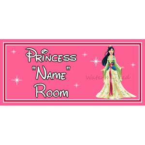 Personalizado Disney Princesa Niños Dormitorio Puerta Firmar