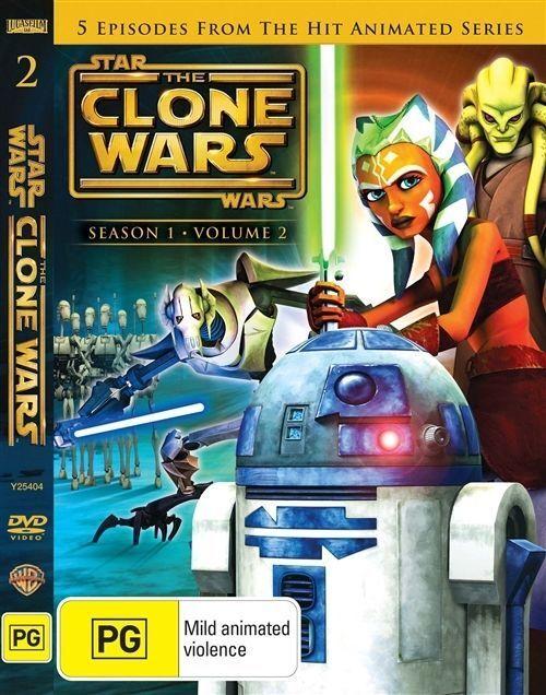 Star Wars - The Clone Wars : Animated Series : Season 1 : Vol 2 (DVD, 2009)