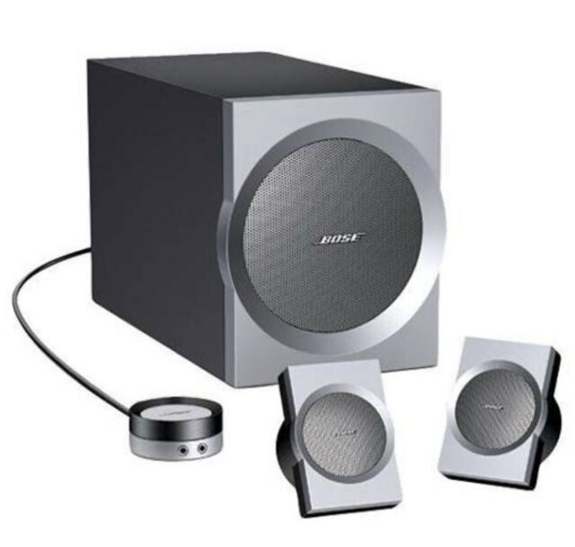 Bose Companion 3 Multimedia Speaker System Graphite Silver For Sale