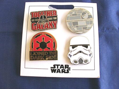 DARK SIDE Disney Parks 4-Pin Set on Card Trading Pins * STAR WARS