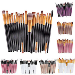 20 pièces Maquillage Pinceaux Lot d'outils BASE POUDRE ARTICLES DE TOILETTE KIT
