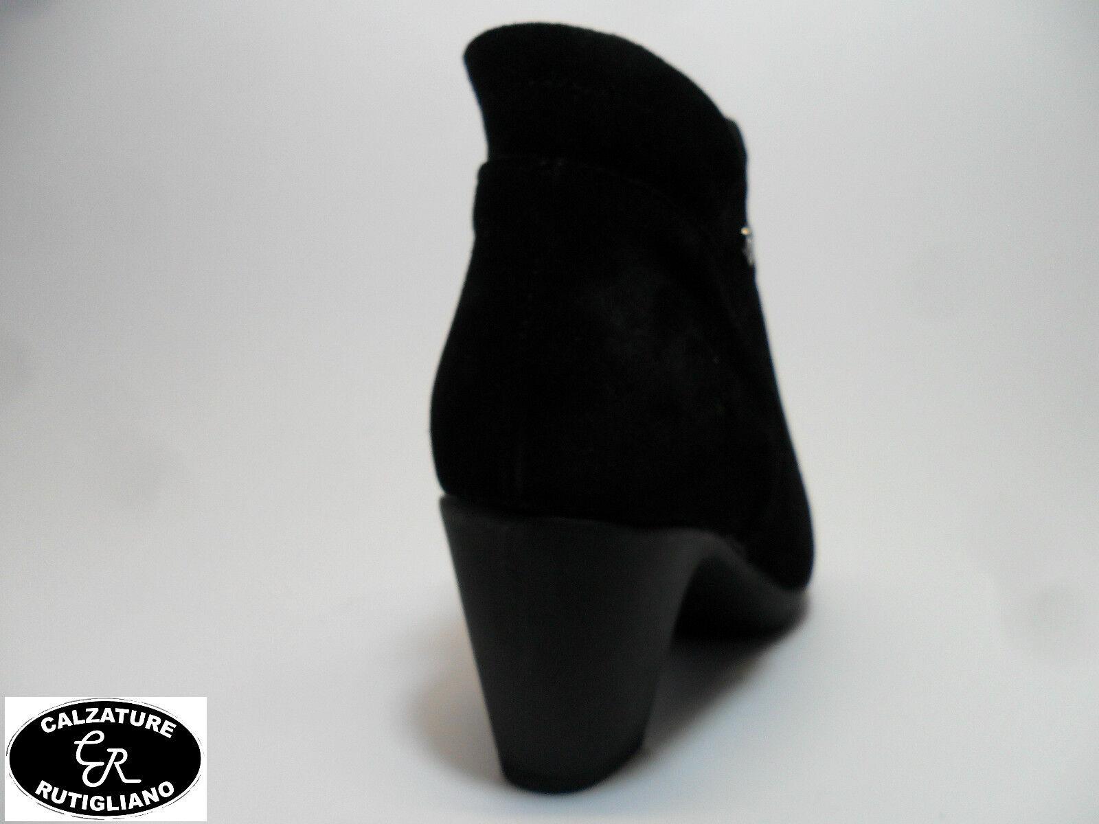 SUSIMODA art.8554/99 Schuhe Damens STIVALETTI CAMOSCIO NERO CERNIERA COMODA LINEA COMODA CERNIERA 767854