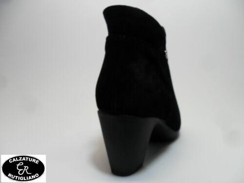 f1456e63cee8df Chaussures pour femme SUSIMODA art.8554/99 SCARPE DONNA STIVALETTI CAMOSCIO  NERO CERNIERA LINEA COMODA