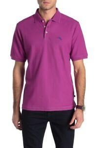 NWT-Tommy-Bahama-Men-039-s-SZ-Large-Island-Sunset-Purple-Emfielder-Polo-Shirt