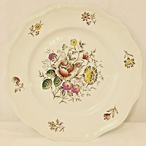 Vintage-Bouquet-Ironstone-Burleigh-Ware-Floral-Plate