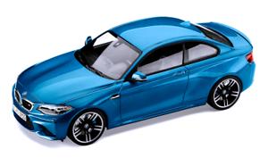 NEW DEALER PROMO !!! F87 1:18 MINICHAMPS 2016 BMW M2 long beach blue met