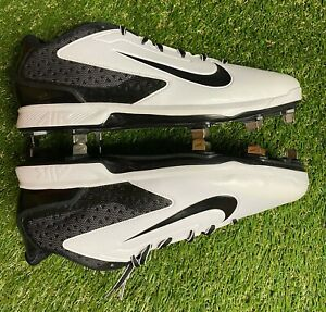 Details about Nike Huarache Low Men's Size 12.5 White 599233-101 MLB Cleats  Metal #201