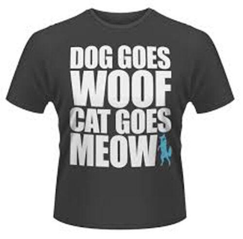 Ylvis chien va Woof Chat va Meow officiel T-shrit Prix De Vente £ 1.99 To clair!