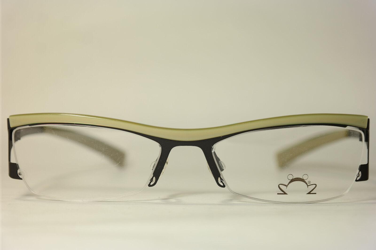 Eye DC V461 000 53[]17 135 Schwarz Beige halbrand Brillengestell Brille NEU