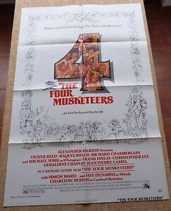 I QUATTRO MOSCHETTIERI Movie Poster, ORIGINALE, piegato, un foglio, ANNO 1975, U.S.A.