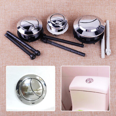 2 Rods Chrome Plated 38//48//58mm ABS Dual Flush Toilet Water Tank Push Button