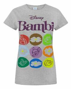 Disney-Bambi-Motif-Women-039-s-T-Shirt