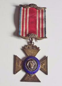Masonic-Buffaloes-Jewel-Sterling-Silver-and-Enamel-1939-RAOB-Attendance-Medal