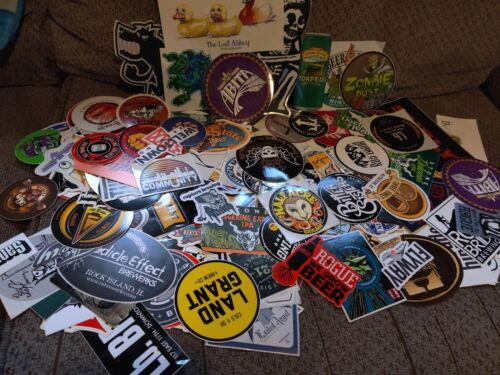Lot Of Ten 10 No Repeats Assorted Brewery Beer Stickers
