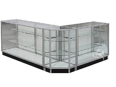 Combination Glass Showcase Display Cabinet Counter #KD4G+KD6G+KDCUS