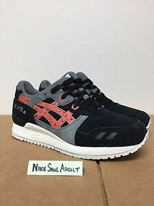 6344e4f8a81e Asics Gel Lyte III 3 Black Chili Red Grey White H6B2L-9024 Suede ...