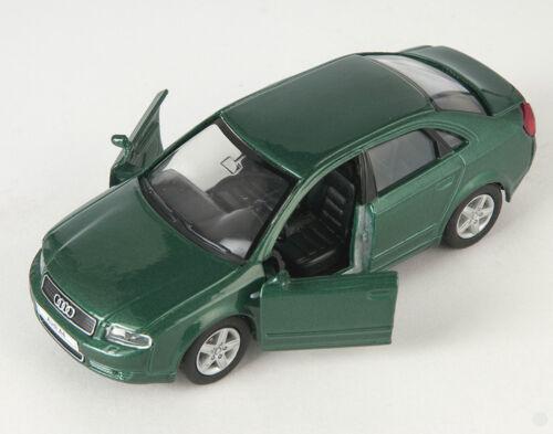 Blitz envío audi a4 verde oscuro//dark green Welly modelo coche nuevo /& OVP 318