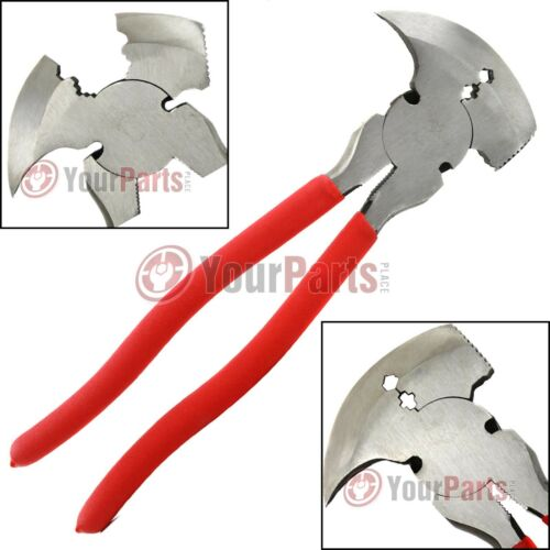 "Fence Pliers 10/"" Inch Multi Purpose Wire Cutter Fencing Hammer Tool MIT 93566"