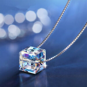 925-Silver-Mystic-Rainbow-Topaz-Gemstone-Pendant-Chain-Choker-Necklace-Women-039-s