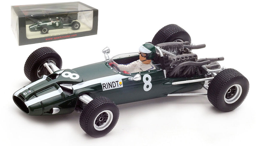 SPARK S5291 Cooper T81  8 3rd GERMAN GP 1966-Jochen Rindt échelle 1 43