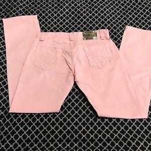 "5ed7c8457b216 PINKO Women's ""Marasca"" Pink Denim Jeans ""Size: 30"" Straight Leg ..."
