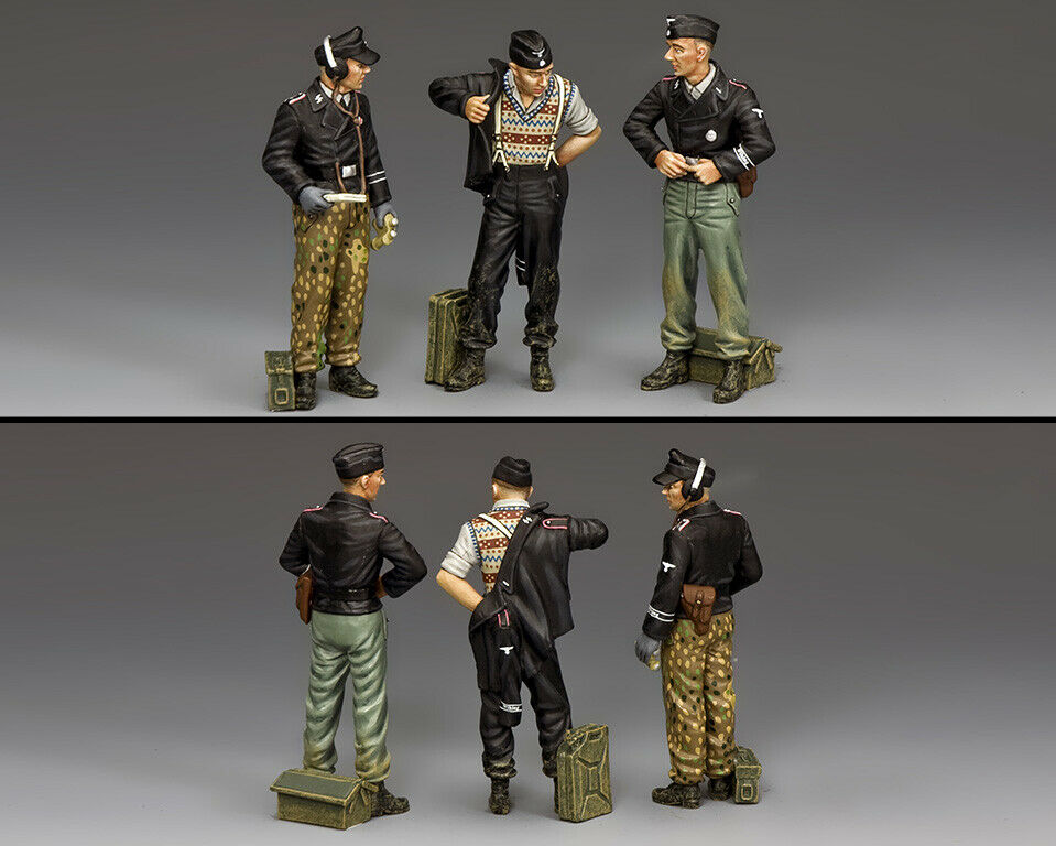 KING & COUNTRY WW2 GERMAN ARMY WS347 DISMOUNTED TANK CREW MIB