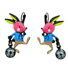Boucles d'oreilles LOL Bijoux LOLILOTA Lapin et l'horloge Alice BFLOL056-rose