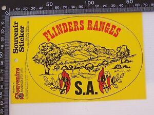 VINTAGE-FLINDERS-RANGES-SOUTH-AUSTRALIA-SOUVENIR-TOURIST-VINYL-BUMPER-STICKER