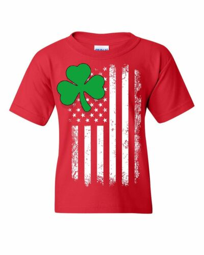 Patrick/'s Day Kids Tee Shamrock Flag Stars and Stripes Youth T-Shirt Irish St