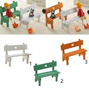 Details About Mini Fairy Garden Wooden Chair Stool Bench Dollhouse Furniture Decor Craft