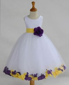 WHITE-FLOWER-GIRL-DRESS-CHRISTMAS-PAGEANT-PARTY-MIX-COLOR-S-M-2-4-6-8-10-12-14