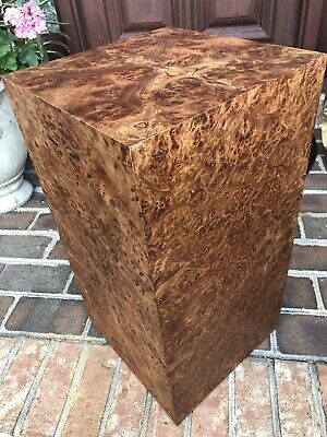 Custom Cube Side Table Pedestal Stand