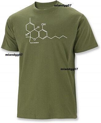 THC Marijuana T-Shirt Cannabis Molecular Weed Shirt