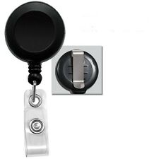 Lot Of 50 Black Retractable Reel Id Badge Holder Usa Wholesale 50 Pcs Belt Clip