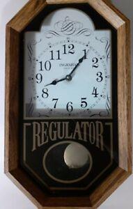 ANTIQUE INGRAHAM REGULATOR WALL CLOCK 🕚  VINTAGE