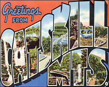 POSTER GREETINGS FROM ARIZONA SUN DESERT USA TRAVEL VINTAGE REPRO FREE S//H