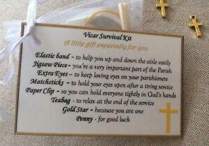 Image Is Loading Thank You Gift For Vicar Reverend Survival Kit