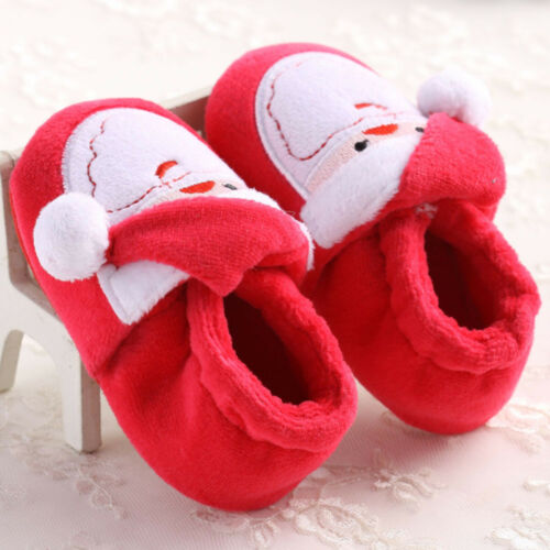 Toddler Newborn Santa Claus Soft Crib Sole Baby Kids Girls Boys Prewalker Shoes