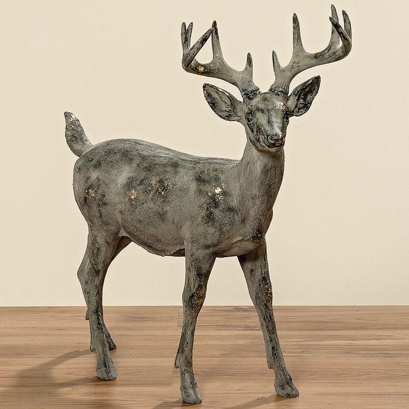 Hirsch Gustavo stehend 80 cm (752290) Tierfigur Dekofigur Dekofigur Dekofigur Weihnachtsdeko b4aca2