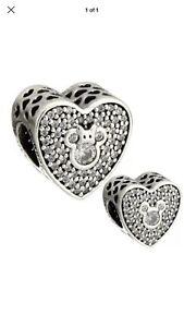 54895a267 NEW Authentic PANDORA Disney's 'Mickey & Minnie Sparkling Heart ...