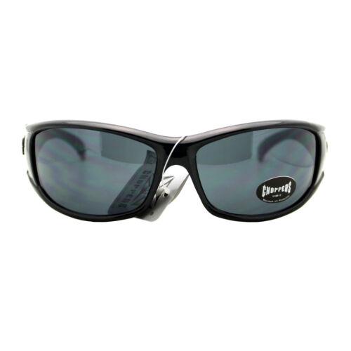 Choppers Sunglasses Mens Oval Rectangular Wrap Around Biker Shades