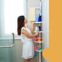 Corner Shower Caddy Pole Tension 4 Shelves Rack Bathroom Organizer Holder D9j6 on sale
